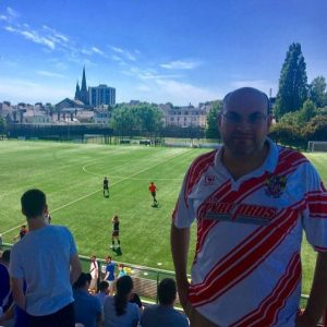 Jonny Hibber at football match