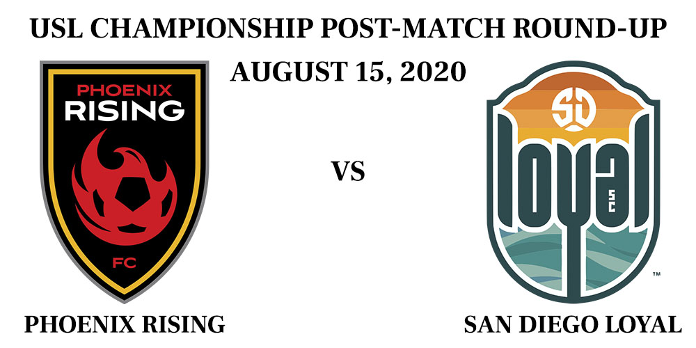Phoenix Rising vs San Diego Post Match