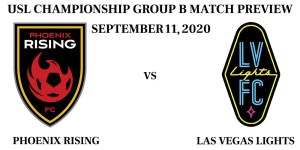 Phoenix Rising vs Las Vegas Lights September 11, 2020