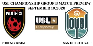 Phoenix Rising vs San Diego Loyal Group B
