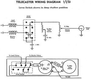 Who can draw me a Tele Schematic (not wiring diagram