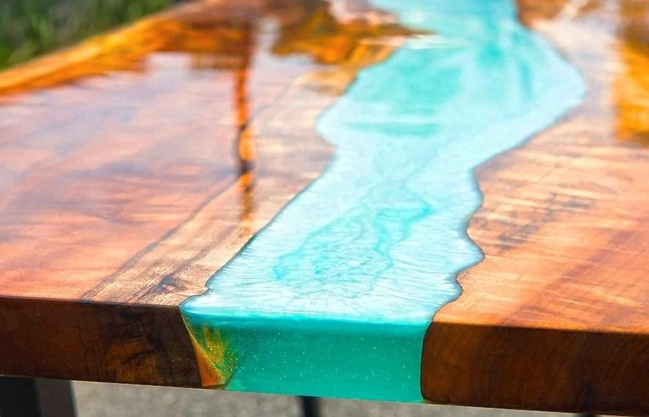creer ta propre resine epoxy table a