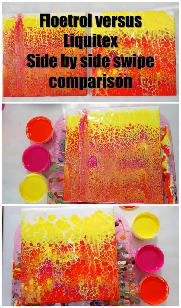 Liquitex Pm Vs Floetrol Pouring Medium Comparison Side By