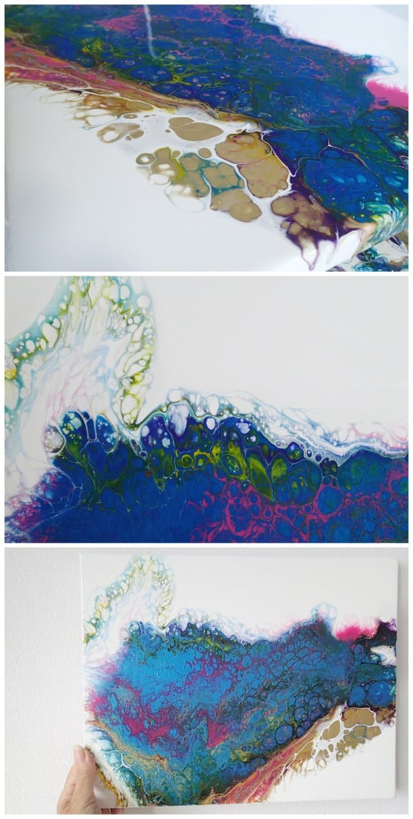 Acrylic pouring flip and drag challenge with videos