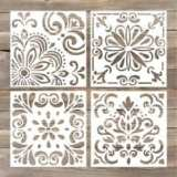 GSS Designs Pack of 4 Stencils Set