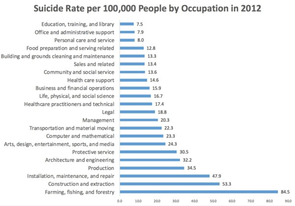 The Deadliest Jobs: Fatal Injuries and Suicides | American ...