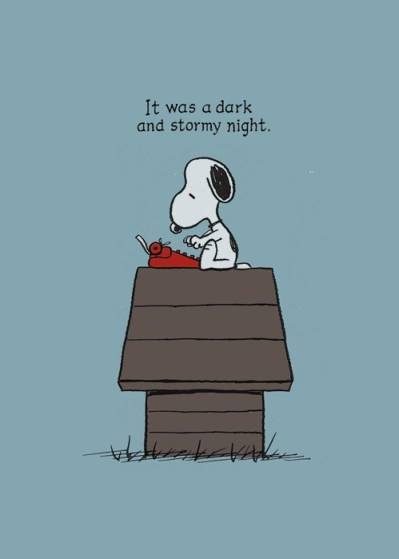 writing-snoopy