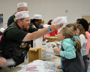 Doughnuts with a Deputy event