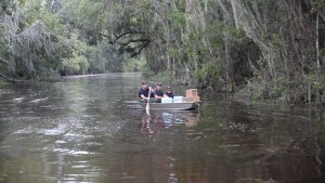 Deputies delivering supplies during flooding