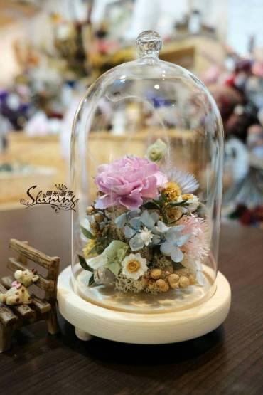 玻璃花盅 乾燥花 不凋花