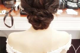 白紗造型 / 低髮髻 / 編髮造型 / 韓式妝感 / 新娘秘書 / 新娘造型