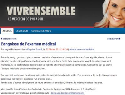 L'angoisse de l'examen médical - Bel RTL Radio