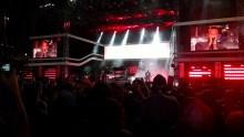 Linkin Park plays a free concert for badgeholders at part of MTV's Fandom Fest.