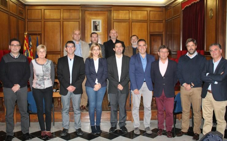 Representants de les institucions signatàries de l'Acord Territorial