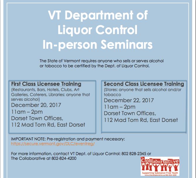 Liquor Control Trainings