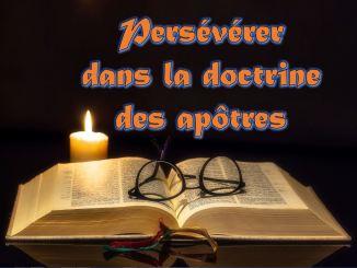 Persévérer dans la doctrine des apôtres