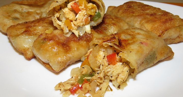 Chicken and Cheese Egg Roll Recipe [VIDEO]