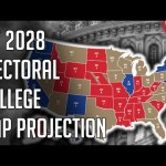 My 2028 Electoral College Map Prediction Projection - Southwest to Democrats Midwest to Republicans? | @politicalforecast 20
