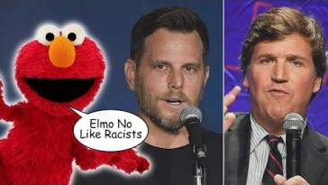 Tucker Carlson & Dave Rubin OUTRAGED Elmo is Teaching Kids to Not Be Racist 23