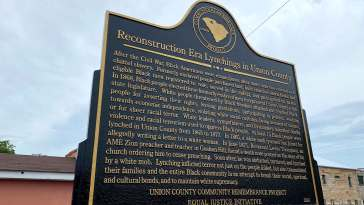Historical Markers Dedicated in Union County, South Carolina 14
