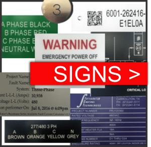 Engraved Sign and label materials include phenolic plastic, stainless steel, aluminum, brass and more with mounting options for engraved plates that include drilled holes, high-quality double faced tape and more.