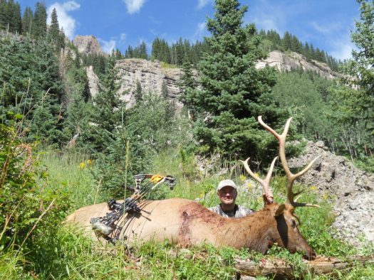 Wilderness backcountry archery elk
