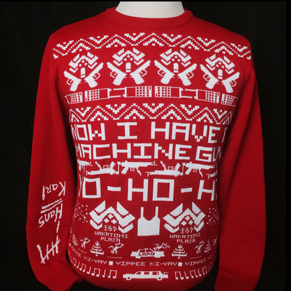 NOW WE HAVE A DIE HARD JUMPER HO HO HO Action A Go