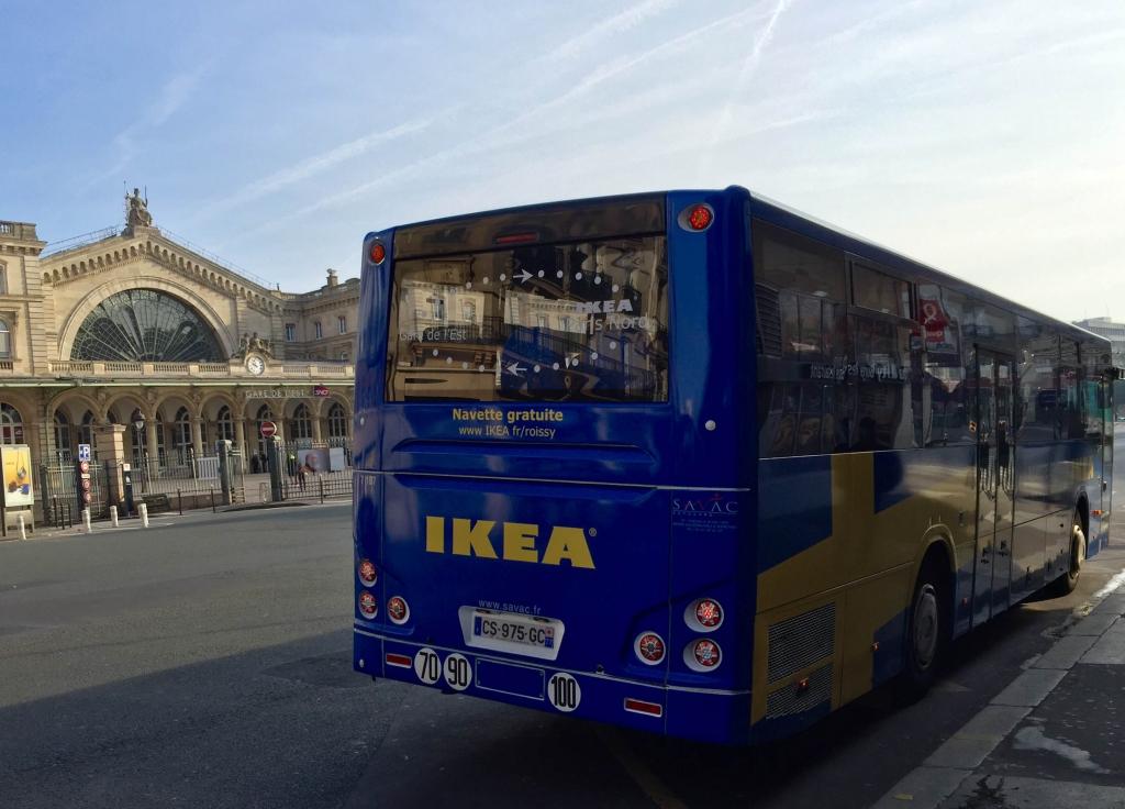 Espace Public Aux Abords De La Gare De Lest Ikea Prend