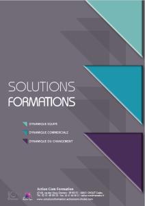 Visuel plaquette solutions formations