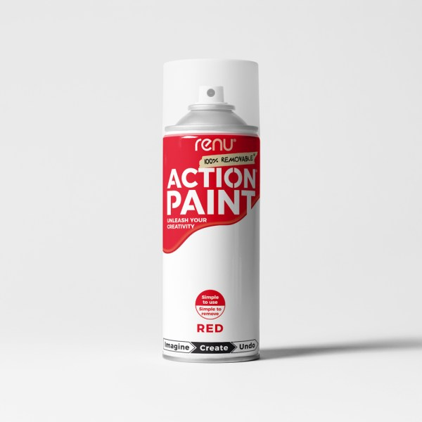 Action Paint - Red