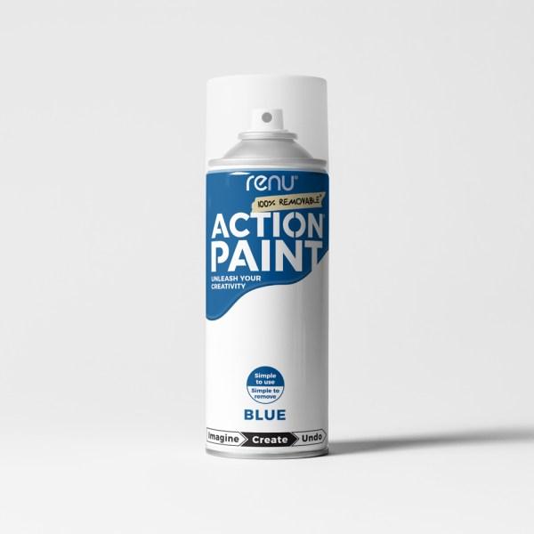 Action Paint - Blue