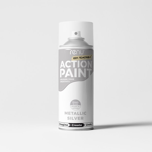 Action Paint - Silver