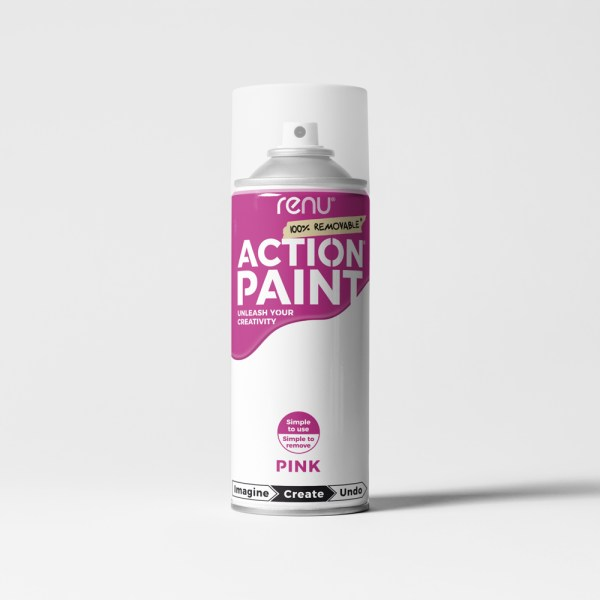 Action Paint - Pink