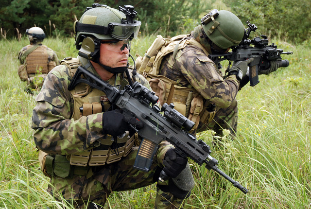 Soldiers with CZ 805 BREN Assault Rifles