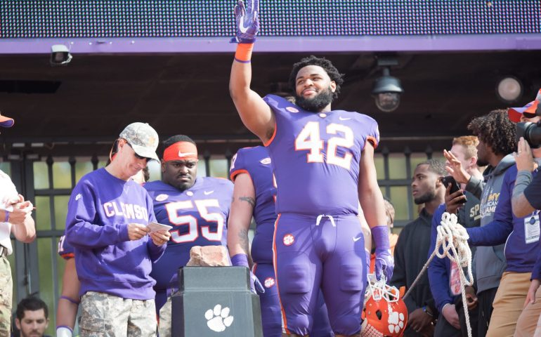 Future first round draft pick Christian Wilkins Defensive Tackle for the Clemson Tigers