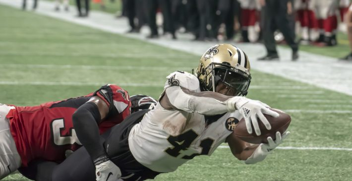 Alvin Kamara leads the New Orleans Saints to win over the Falcons