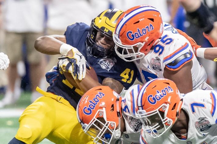Action from the 2018 Chick-Fil-A Peach Bowl Florida vs. Michigan