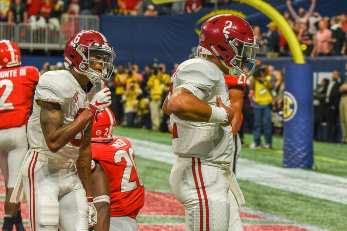 Jalen Hurts leads the comeback win over Georgia 35-28