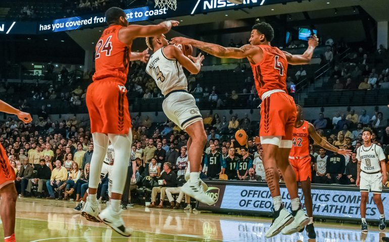 Georgia Tech Guard Brandon Alston goes up for a shot