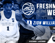 Zion Willliamson is the ACC Basketball Freshman of the week