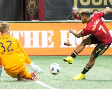 Josef Martinez scores a goal for AtlUTD