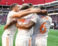 Atlanta United celebrates a goal vs Orlando