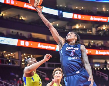 Atlanta Dream Player goes to the hoop