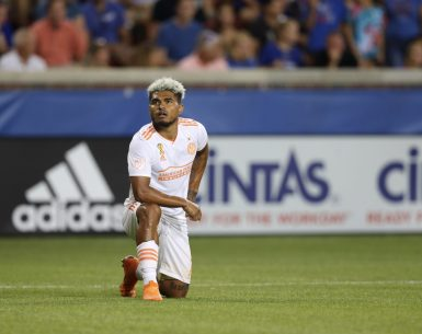Josef Martinez celebrates a goal scored during Wednesday's victory over FC Cincinnati