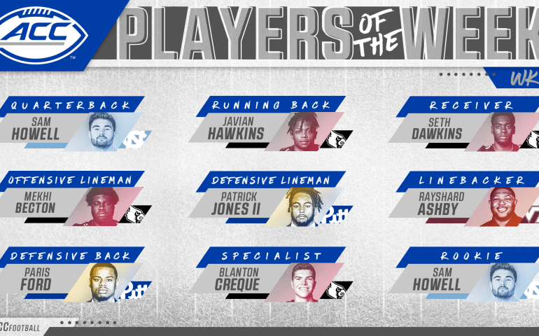ACC Football Players of the week 6