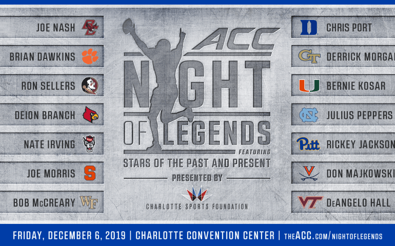 ACC Legends set to be awarded ACC Championship Weekend