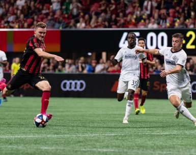 Julian Gressel scored the game winner against Philadelphia Union in the Eastern Conference Semifinals