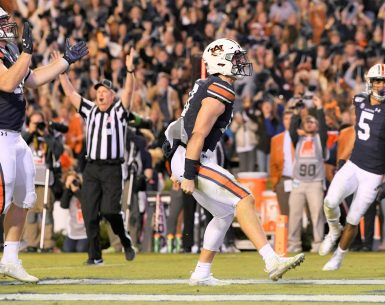 Auburn Tigers fell short but got to celebrate their effort against UGA