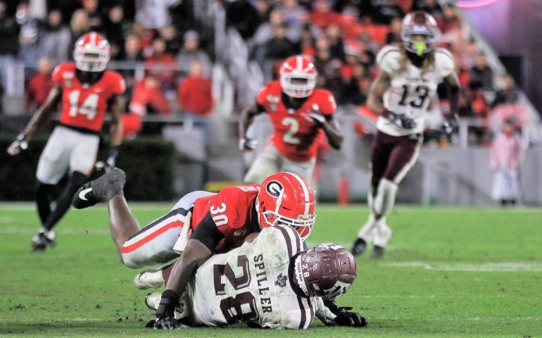 Georgia Bulldogs hold on to beat Texas A&M #UGA,#Bulldogs, #Dawgs,