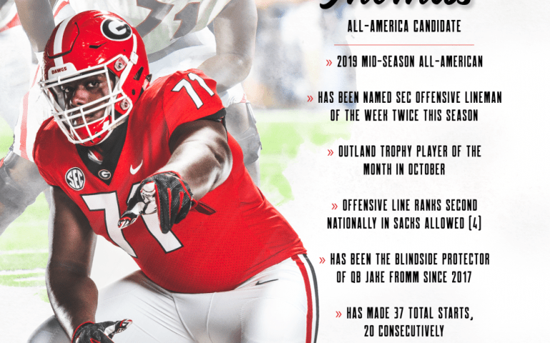 Andrew Thomas All-American Candidate UGA Bulldogs